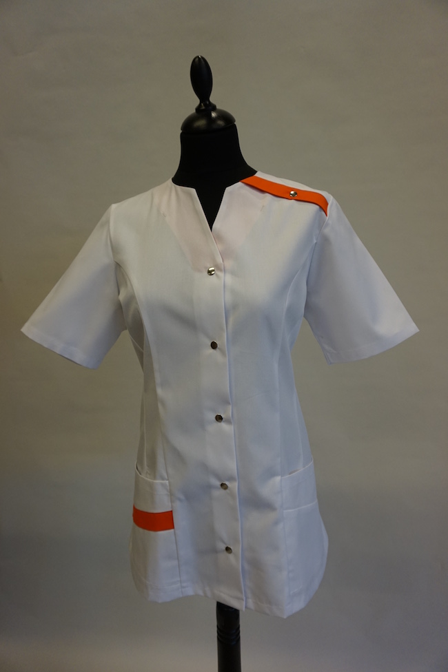dames hes Yara in kleur wit-oranje