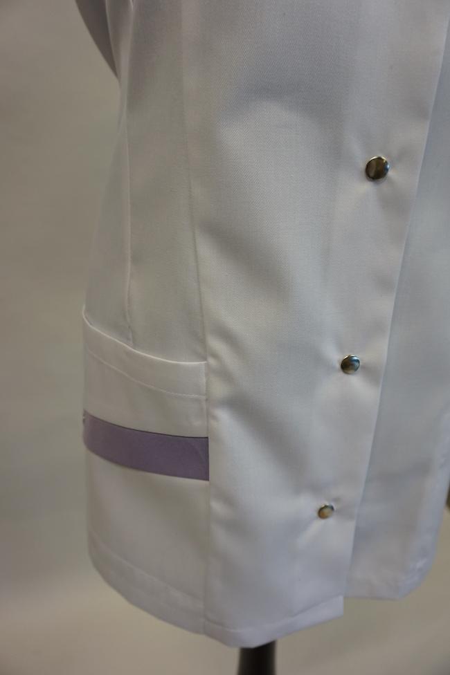 detail rechter zak dames hes Yara en unises Hes Yarno in kleur wit-iride
