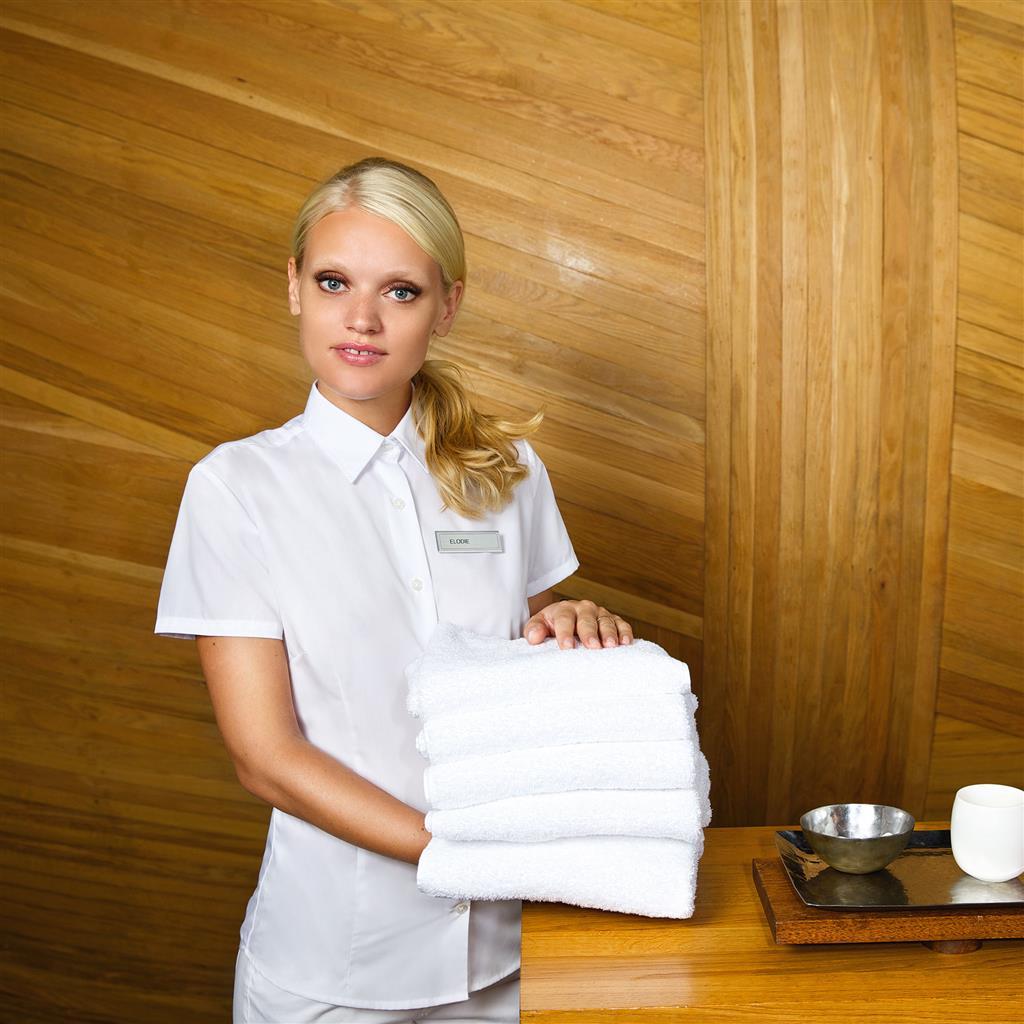 dames blouse Smart korte mouw business wit