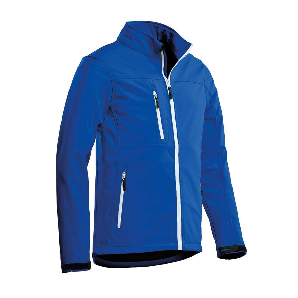 heren softshell jas royal blue