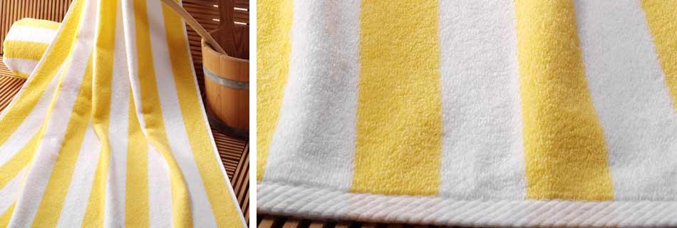 handoek wit/geel Wellness Sydney