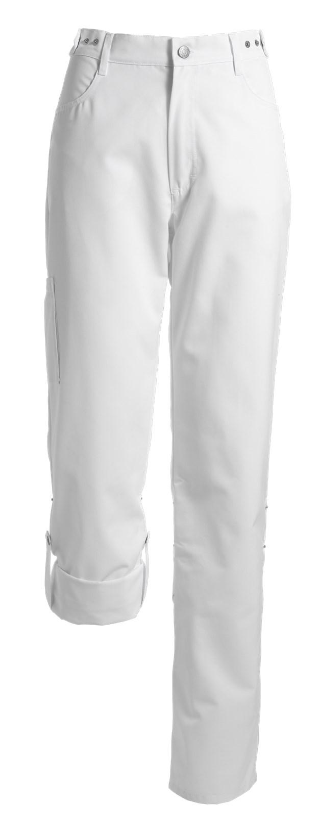 dames broek wit verstelbaar in de band