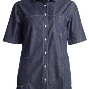 dames shirt jeans blauw