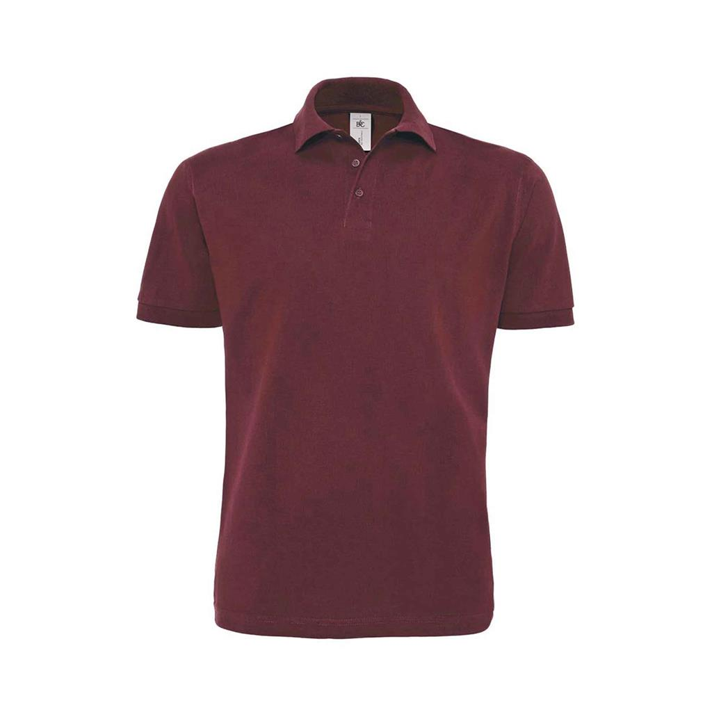 heren polo Heavymill burgundy