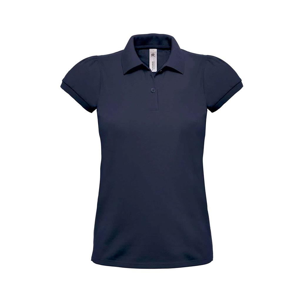 dames polo Heavymill navy