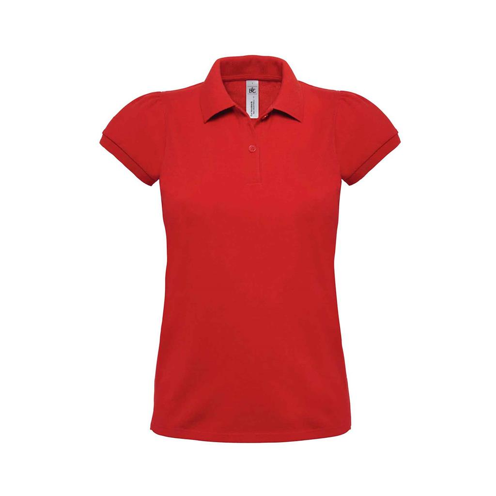 dames polo Heavymill rood