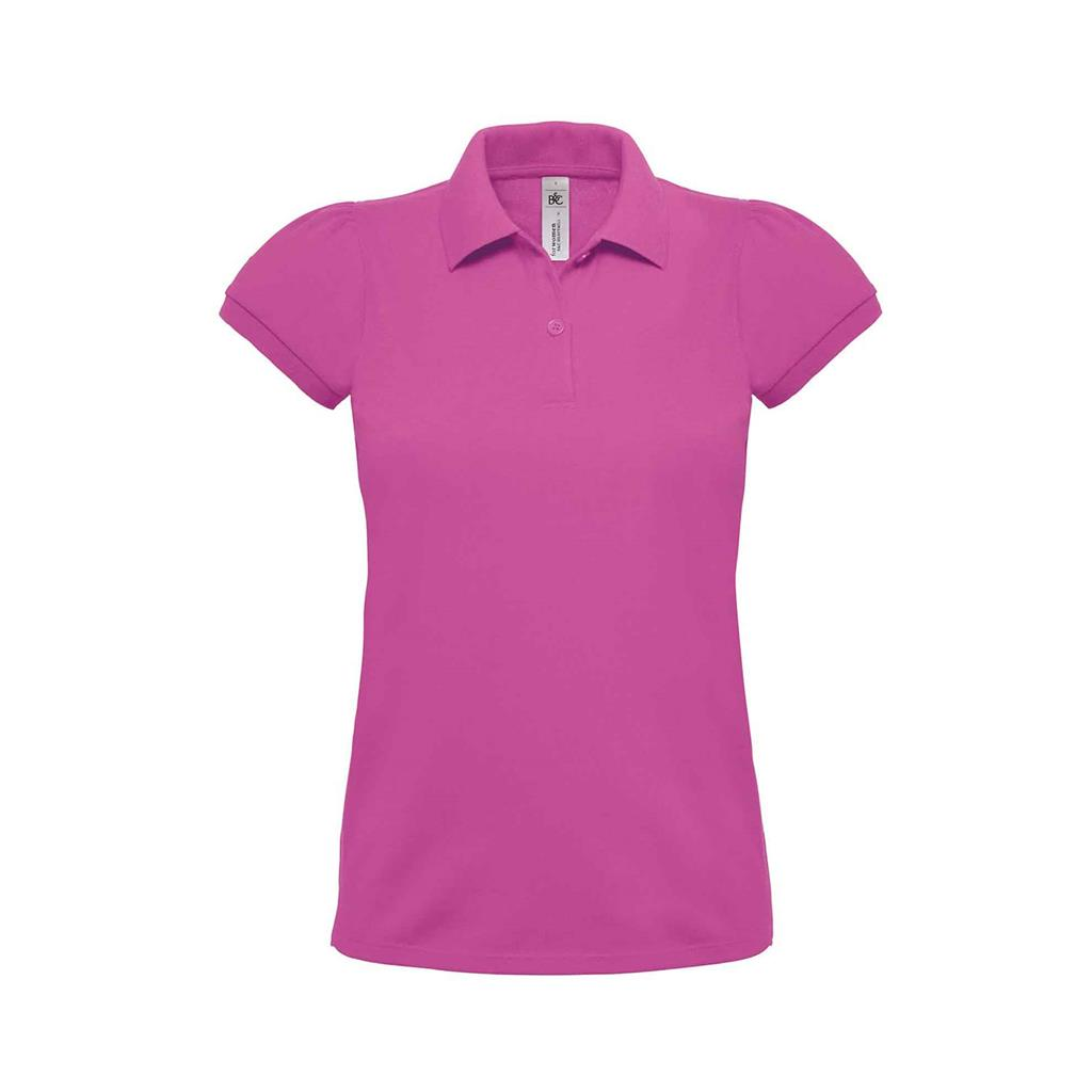 dames polo Heavymill roze