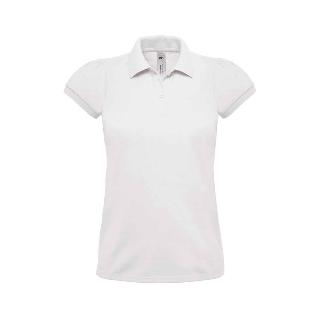 dames polo Heavymill wit