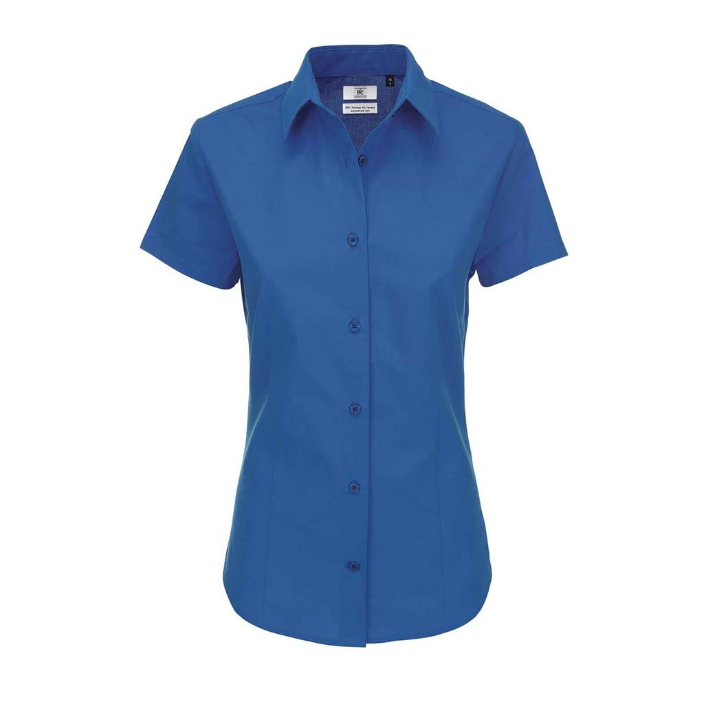dames blouse Heritage korte mouw blue chip