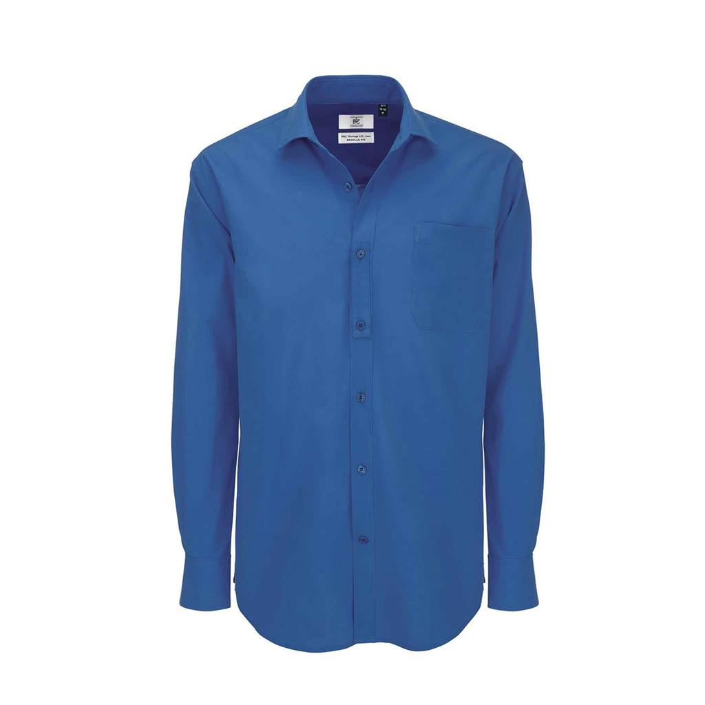 heren blouse Heritage lange mouw bluechip