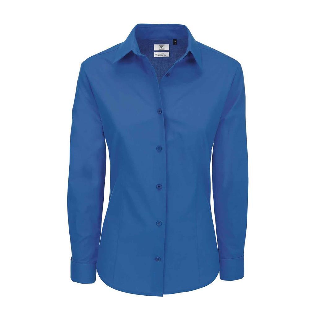 dames blouse Heritage lange mouw bluechip