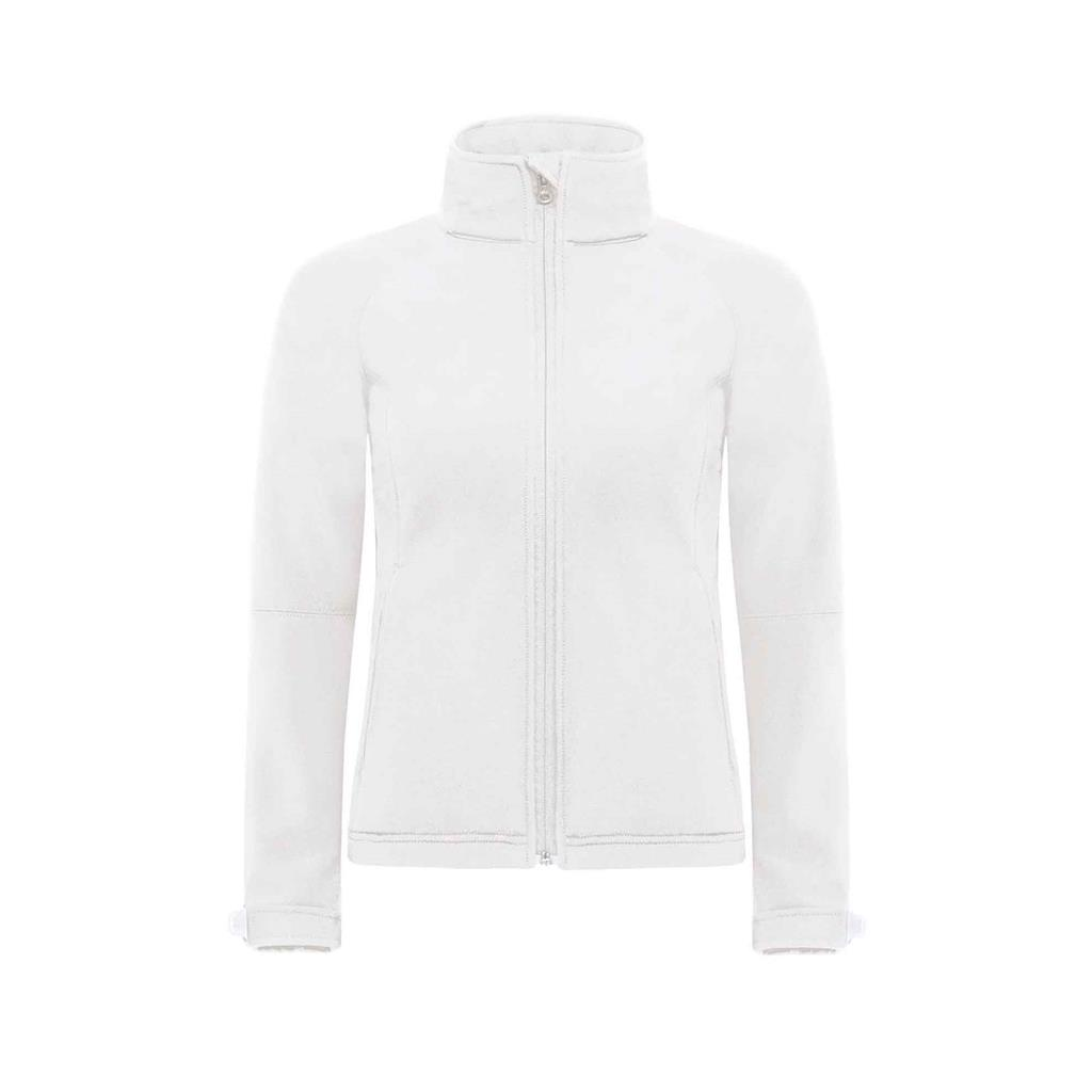 dames jas hooded softshell wit