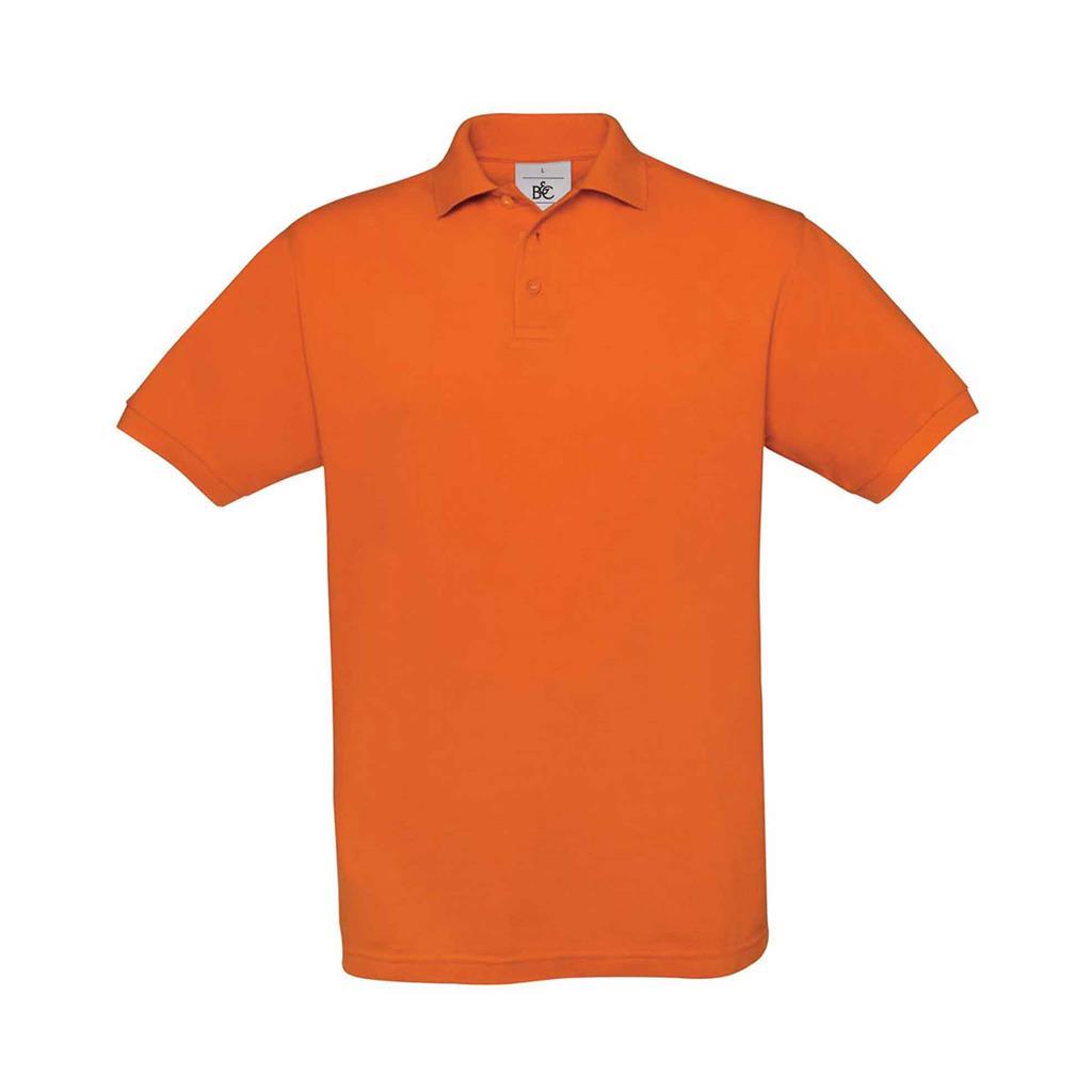 heren polo Safran oranje