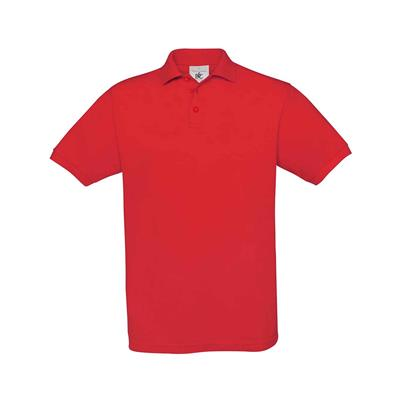 heren polo Safran rood