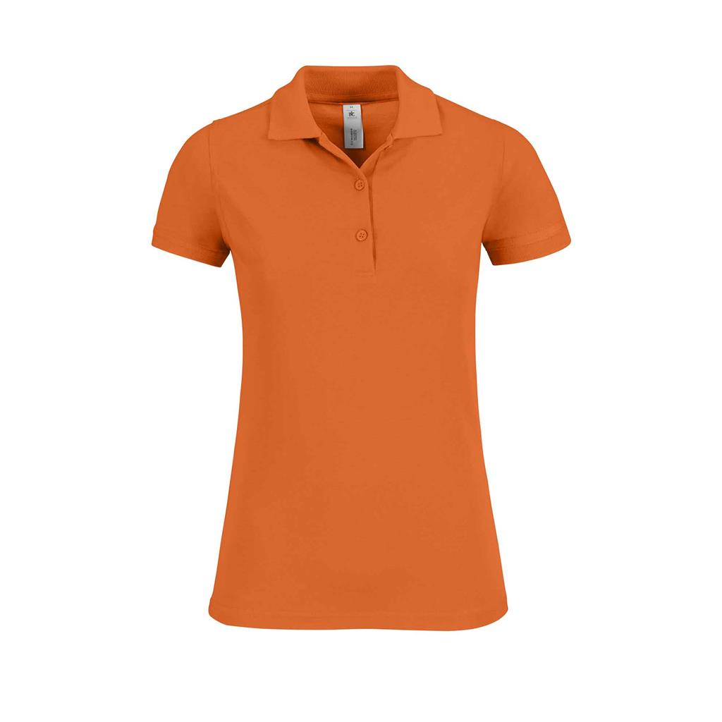 dames polo Safran oranje
