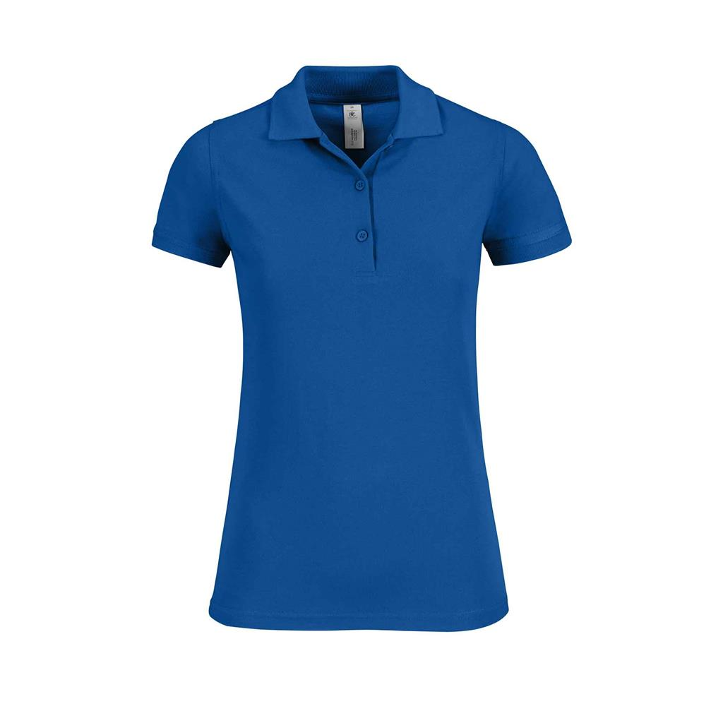 dames polo Safran royal blue