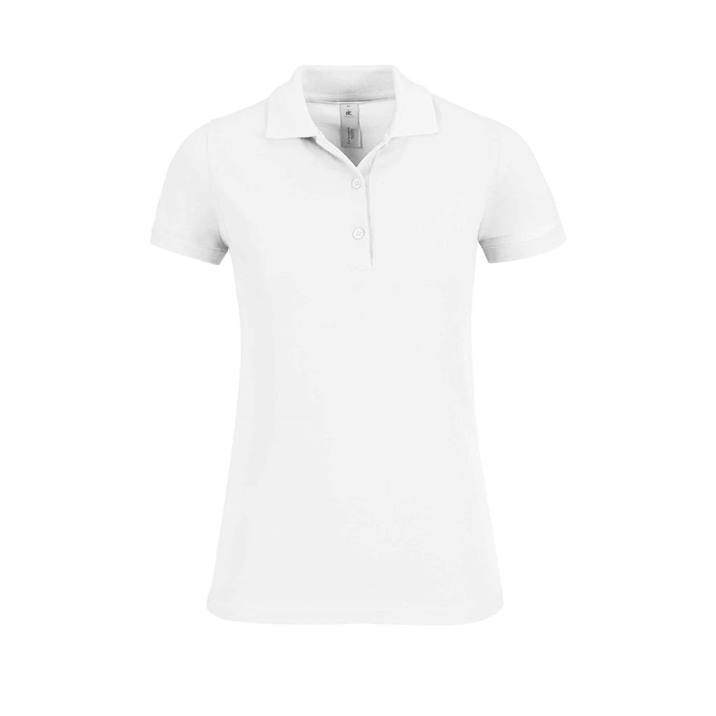 dames polo Safran wit