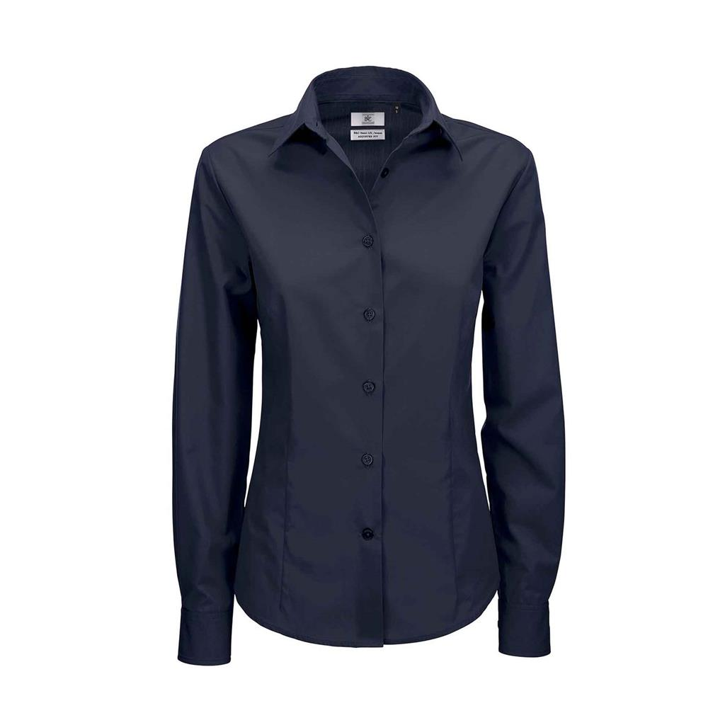 dames blouse Smart lange mouw navy