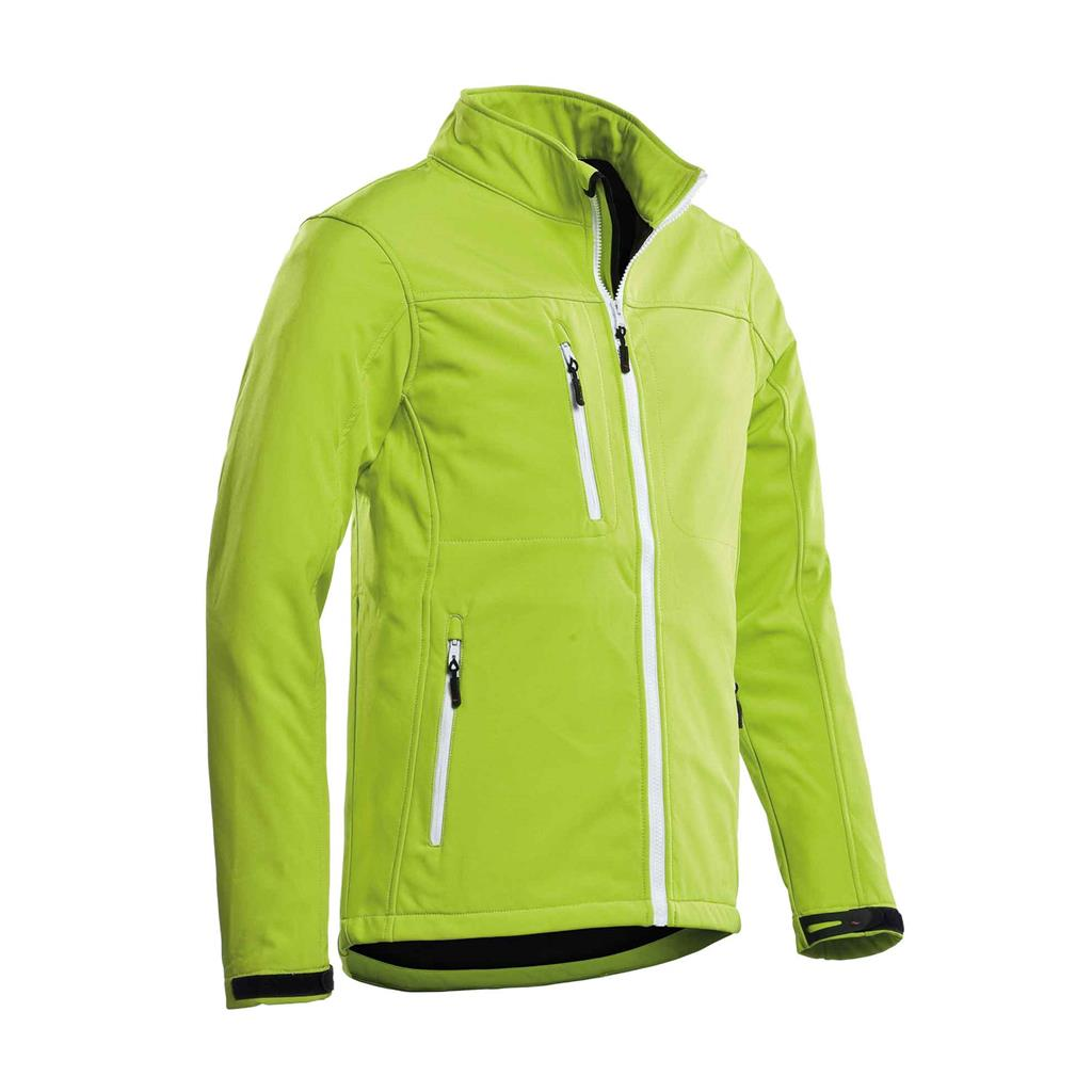 heren softshell jas lime