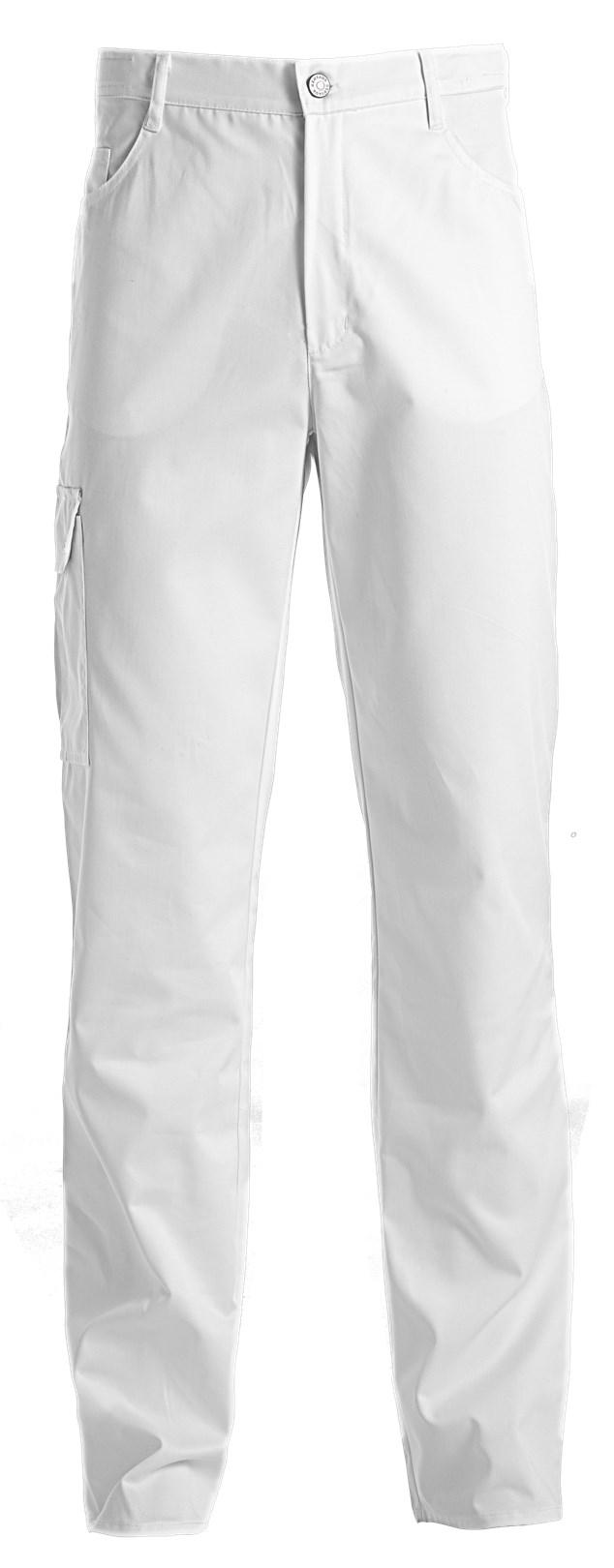 unisex broek jeans wit met zak op dijbeen