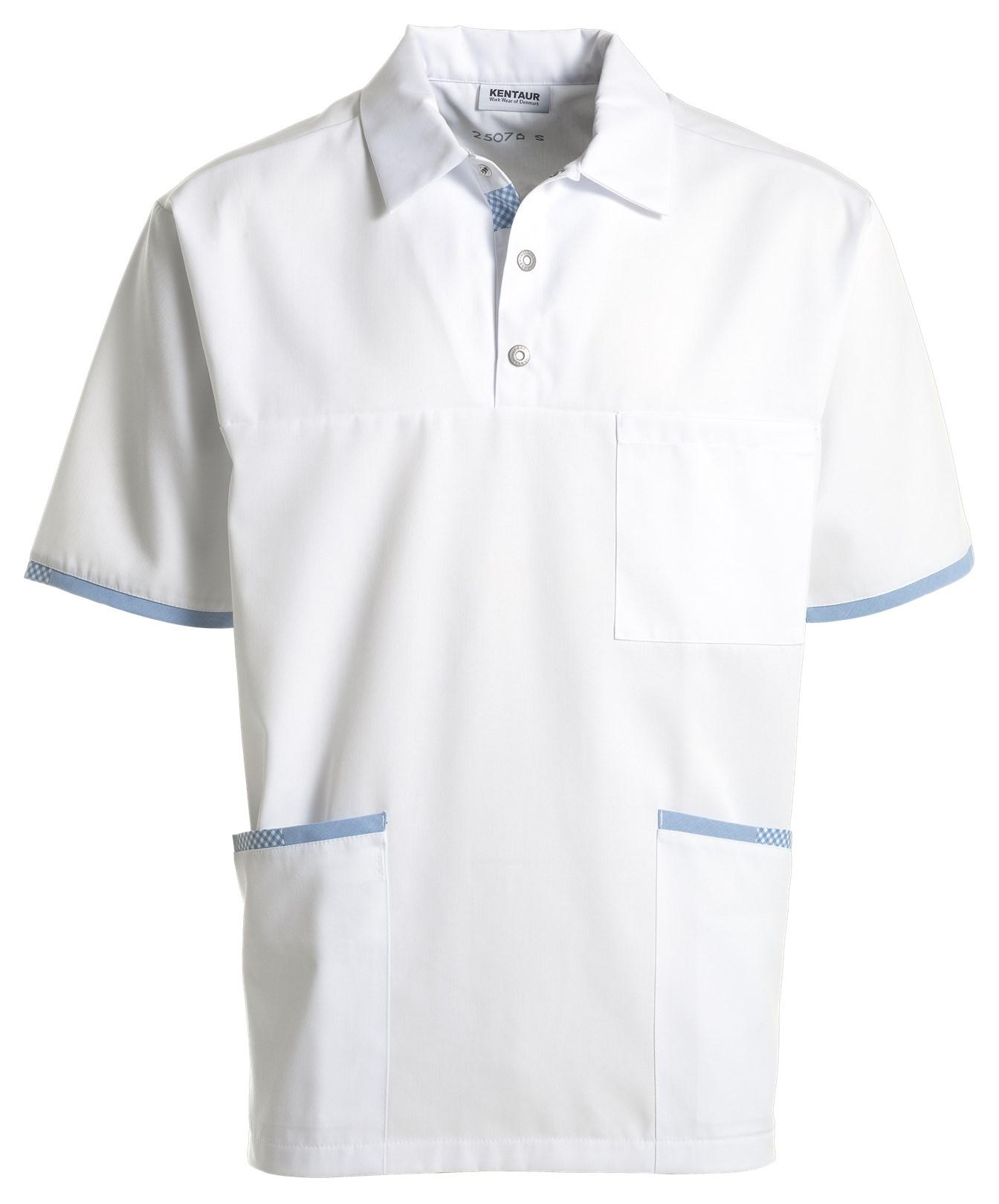 unisex hes wit/blauw geruit