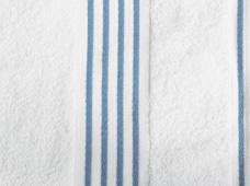 handdoek wit-blauw