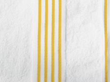 handdoek wit-geel