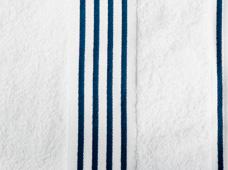 handdoek wit-donkerblauw