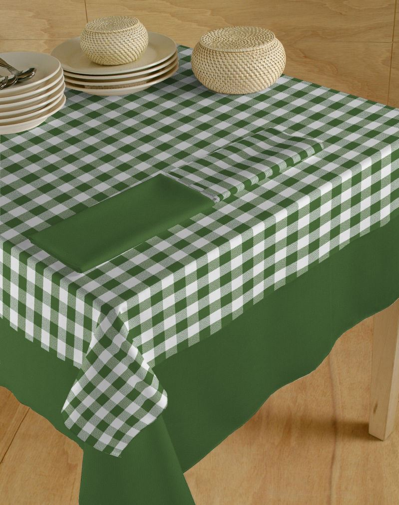 Italiaans tafellinnen blok wit-groen