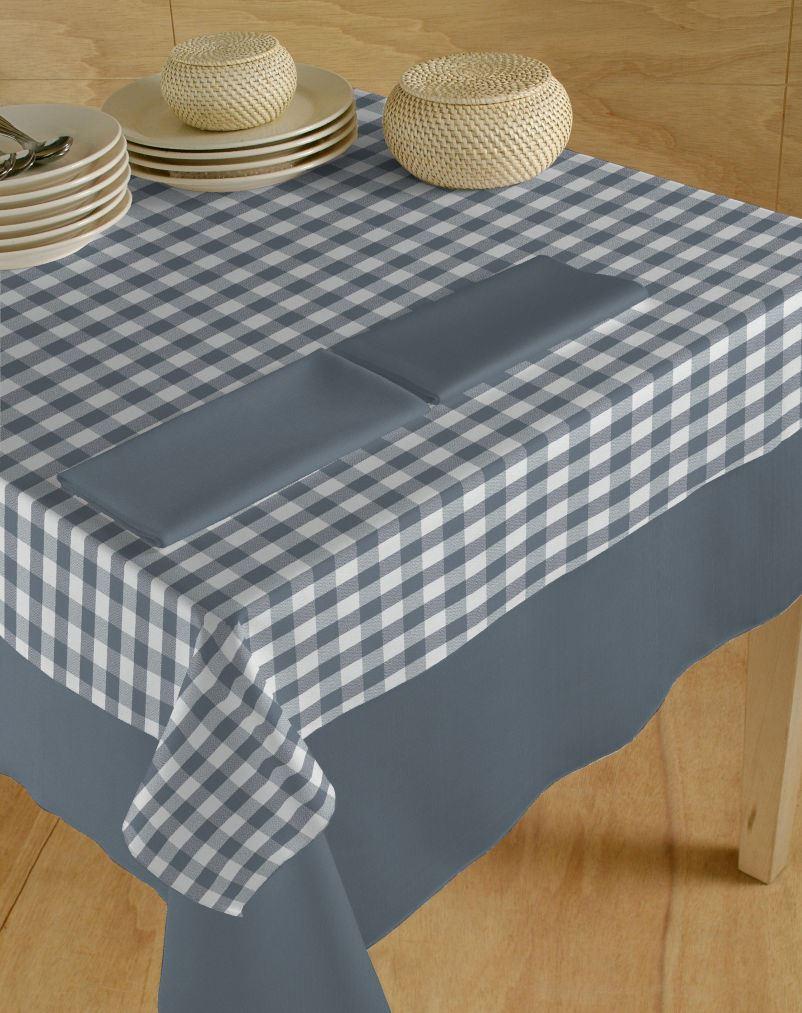 Italiaans tafellinnen blok wit-grijs