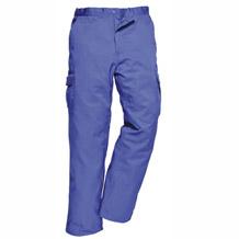 werkbroek blauw met afsluitbare zakken