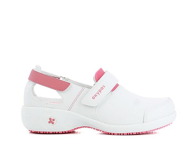 schoen SALMA wit-roze merk Oxypas