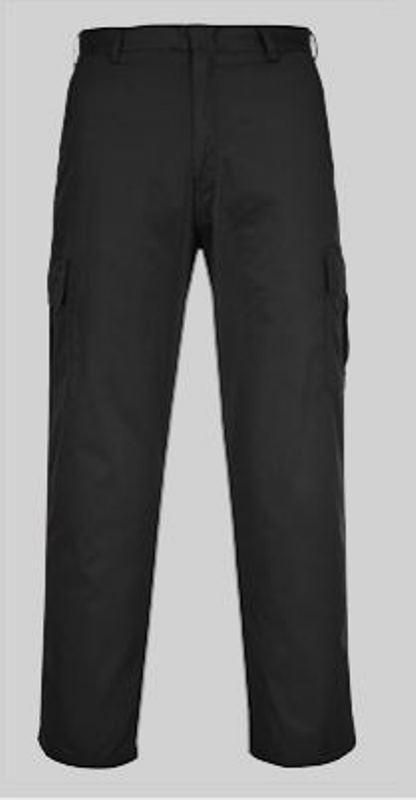 werkbroek zwart met afsluitbare zakken