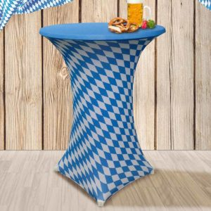 rok statafel thema oktober fest/Bayern blauw-wit