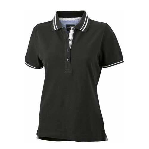 dames polo shirt twee kleuren
