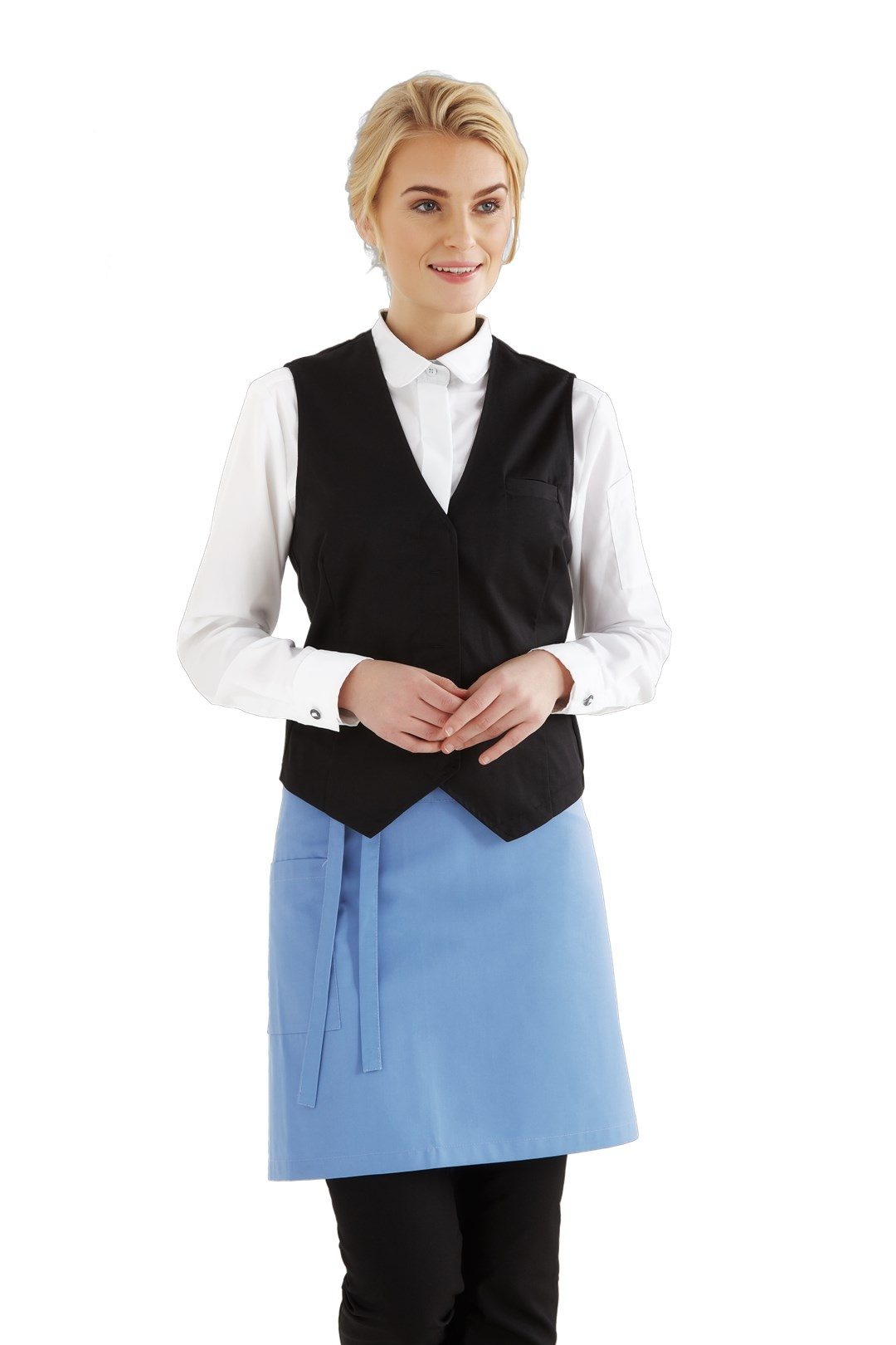 dames vest zwart kelner/bediening