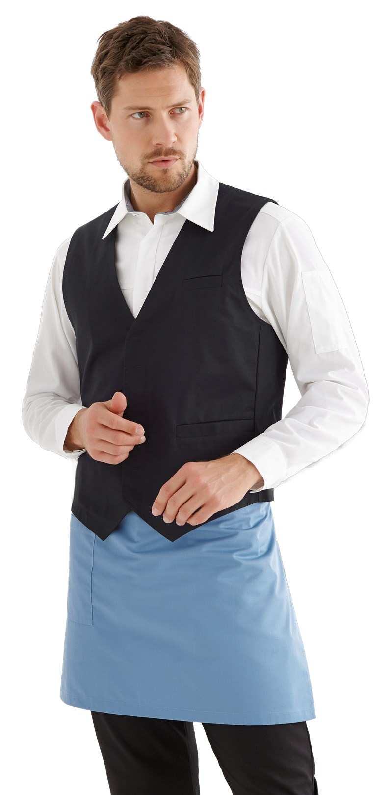 heren vest zwart kelner/bediening