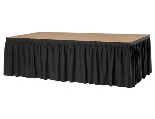 podium rock plissé zwart
