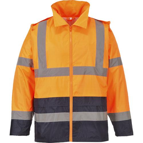 Regenjack oranje/navy